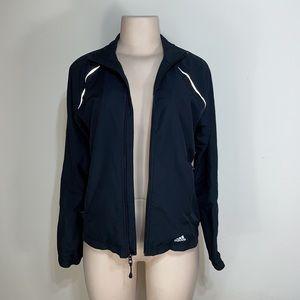 Adidas Black Long Sleeve Vented Windbreaker Jacket